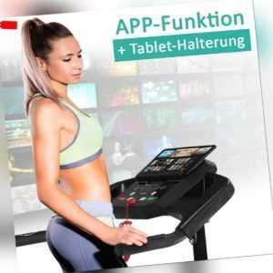 Motorisiertes Laufband mit LCD-Display Elektrisches Fitnessgerät Heimtrainer App