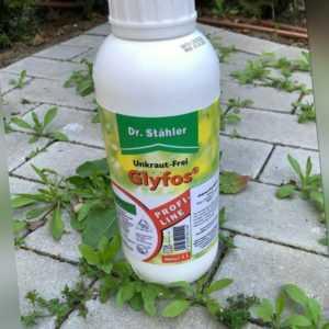 Unkrautvernichter Unkrautfrei Glyfos 1L Glyphosat Dr Stähler Herbizid Unkraut