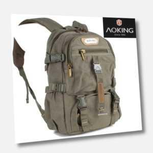 Rucksack Sport Reise Wander Schul Tasche Canvas Day Back Pack Outdoor AOKING !