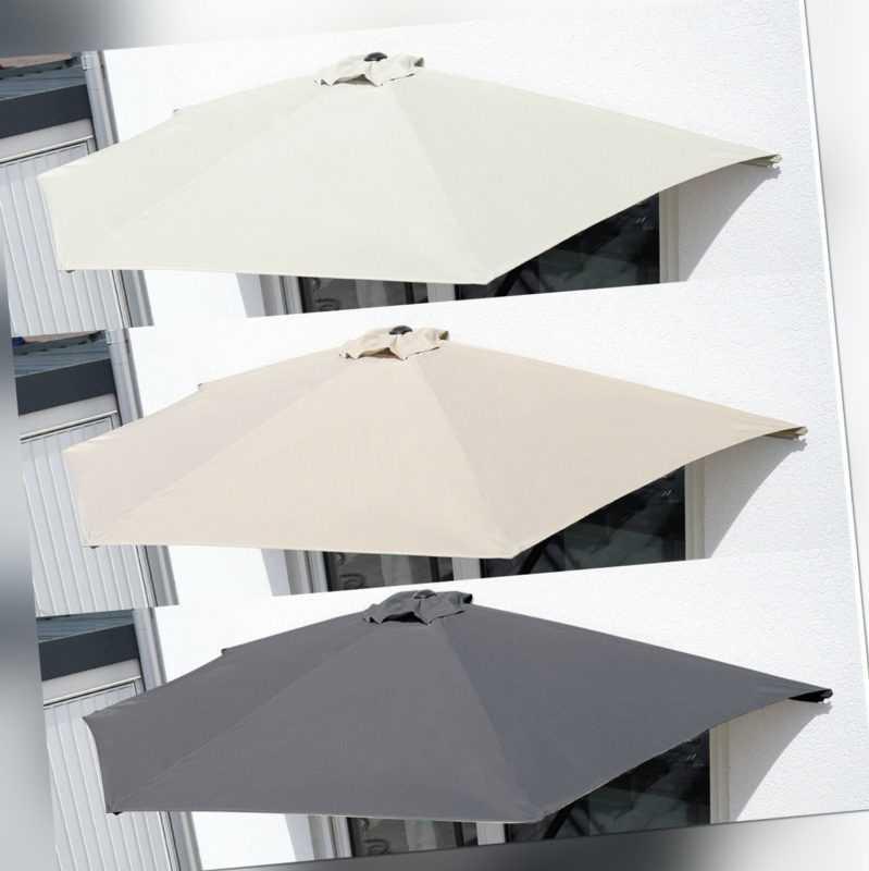 Sonnenschirm Ø 2,7m halbrund Balkonschirm Terrassenschirm Schirm UV-Schutz 50+