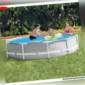 INTEX Prism Frame Pool-Set Ø 305 cm mit Filterpumpe Swimming Pool Schwimmbecken
