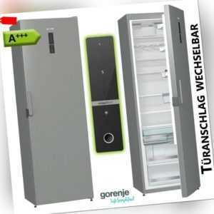 A+++ Kühlschrank Standkühlschrank 368 L Vollraum 185cm Edelstahl...