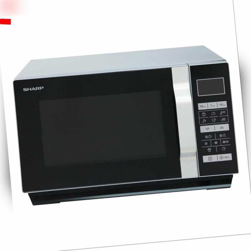 Sharp R760S Mikrowelle mit Grill 23L Auto Defrost 900W...