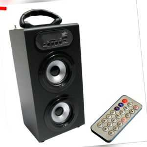MOBILE BLUETOOTH LAUTSPRECHER - SOUNDBOX - BLACK-RADIO FM-AUX-USB-SD-MP3- BOX23
