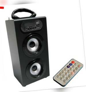 MOBILE BLUETOOTH LAUTSPRECHER - SOUNDBOX - BLACK-RADIO FM-AUX-USB-SD-MP3- BOX23
