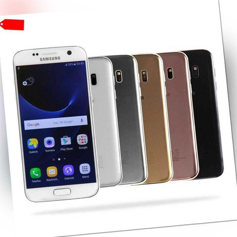 Samsung Galaxy S7 / G930F / 32GB / Schwarz Weiß Silber Rose Gold / Wie Neu /MwSt