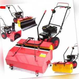 55737 Kehrmaschine 800mm Motorbesen 80 + Schneeschild, Auffangbox, Schneefräse