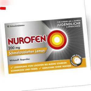 NUROFEN Schmelztabletten Lemon bei Kopfschmerzen 12stk PZN 02547582