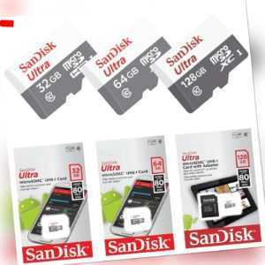 SanDisk Ultra micro SD Speicherkarte 32GB 64GB 128GB Memory Card 80MB/s Class 10