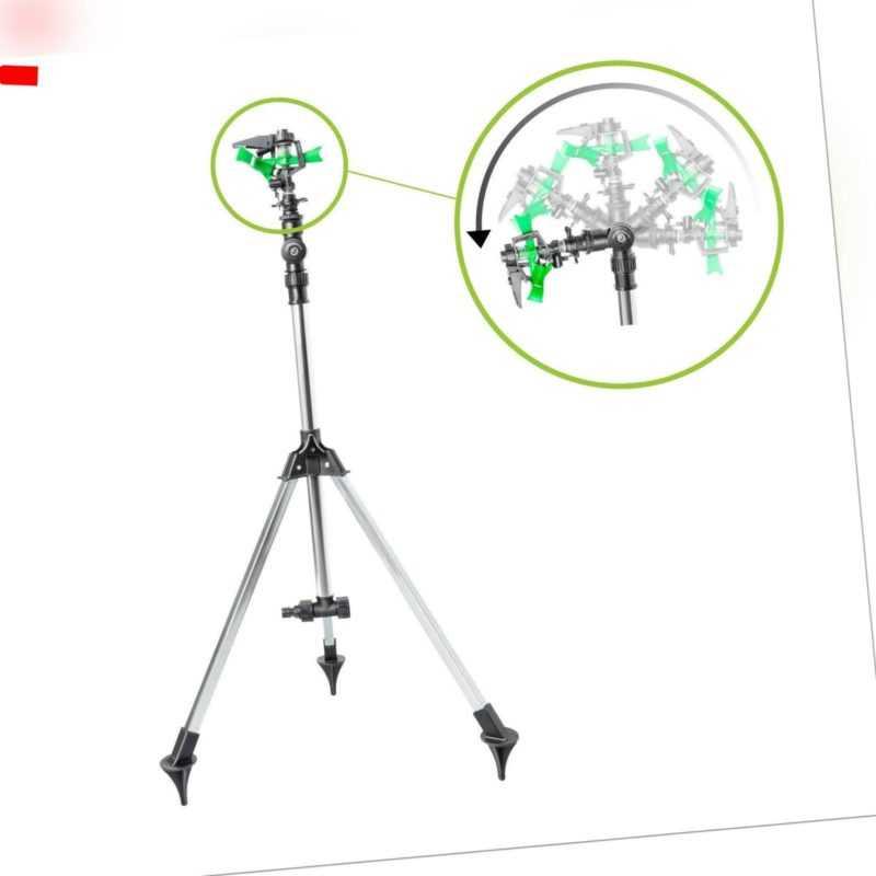 UPP Impulsregner 3Bein-Stativ Kreisregner Drehsprinkler höhenverstellbar schwenk