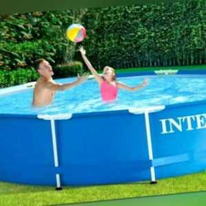 Intex Mega Set Frame Pool Family 366 x 84cm Schwimmbad Swimming Pumpe + Zubehör