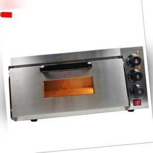 Pizzaofen Pizzabackofen Gastro 1 Kammer  2200W  Pizza Ofen ...
