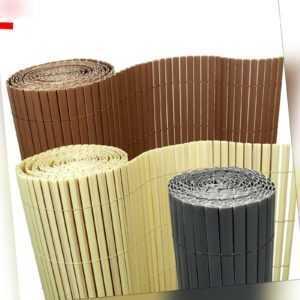 7€/m² Bambus PVC Sichtschutzmatte Sichtschutz Zaun Balkon Garten Blic