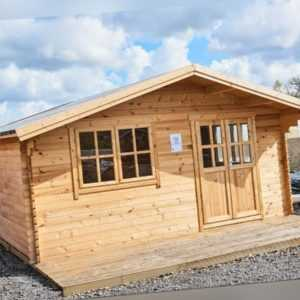35 mm Gartenhaus 500x500 cm 5x5 m Gerätehaus Blockhaus inkl. Fußboden ALL IN