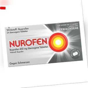 NUROFEN Ibuprofen überzogene Tabletten bei Kopfschmerzen 24stk PZN 08794436