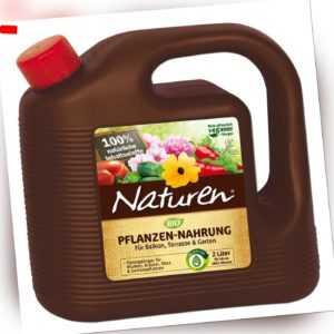 Celaflor Naturen Bio Pflanzennahrung Pflanzendünger NK 2,5-5, 2 Liter