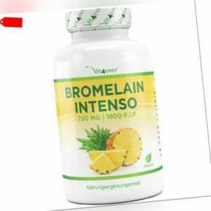 vit4ever Bromelain Intenso 750 mg vegan 120 Kaps Enzym laborgeprüft! Ödeme