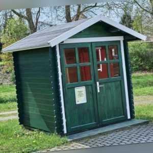 Gartenhaus 28mm  200x200 cm 2x2 m Gerätehaus Blockhaus inkl. Fußboden ALL IN