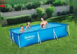 Bestway Frame Pool Stahlrohrbecken Schwimmbecken Pool 300x201x66 cm Schwimmbad