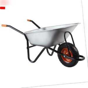 FUXTEC Schubkarre 120kg 90L Karre Transportwagen Gartenkarre Gerätewagen Luftrad