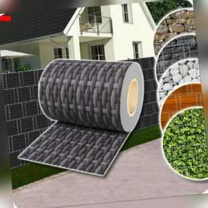 Sichtschutz Rolle PVC Zaunfolie für Doppelstabmatten Zaun Streifen Poly Rattan