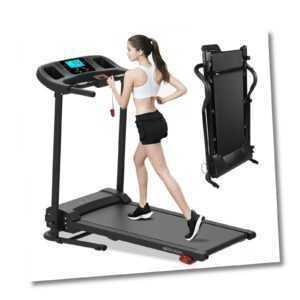 Laufband elektrisch Heimtrainer Jogging klappbar Fitnessgerät mit LCD Display