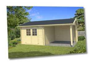 Gartenhaus ca. 600x300 cm Gerätehaus Blockhaus Schuppen Holzhaus Holz 28 mm