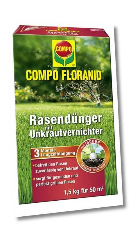 COMPO FLORANID® Rasendünger mit Unkrautvernichter 1.5 kg für 50 m²
