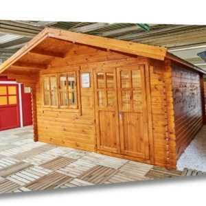 35 mm Gartenhaus 400x400 cm 4x4 m Gerätehaus Blockhaus inkl. Fußboden ALL IN