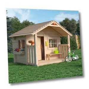 COLIN CASTLE Spielhaus Kinderspielhaus Gartenhaus Holz Haus mit Terrasse Veranda