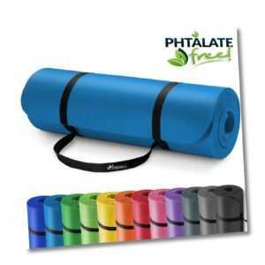 Yogamatte Fitnessmatte Gymnastikmatte Pilates Bodenmatte 185x60x1,5cm Blau