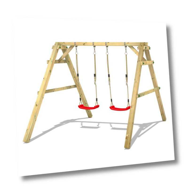 Schaukel Schaukelgestell Schaukelgerüst Kinderschaukel Holz – WICKEY Sky Dancer
