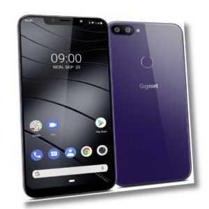 Gigaset GS195 purple 32GB+2GB RAM Dual-Kamera Face ID DualSIM Handy violett T211