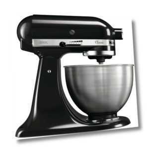 Kitchenaid Küchenmaschine Classic 5K45SSEOB Onyx Black 4,3 Liter...