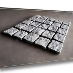 Pflastersteine, Granitpflaster auf Netz, 50x50x3cm, Padang Dunkel, 10,80€, NEU!