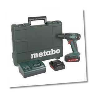 Metabo Akku Bohrschrauber BS 18 Li 2x 1,3 Ah Kunststoffkoffer + Ladegerät