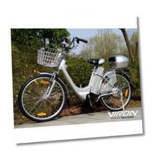 "Elektrofahrrad Citybike 250W 36V E-Bike 26"" Zoll Pedelec 6 Gang Korb Case Akku"