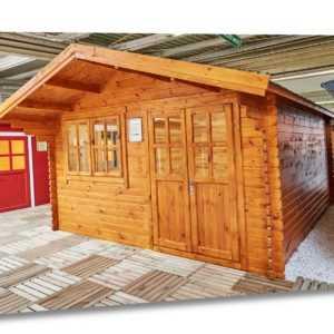 35 mm Gartenhaus 400x400 cm 4x4 m Gerätehaus Holzhaus Blockhaus inkl. Fußboden