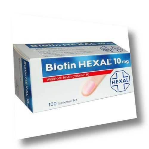 BIOTIN HEXAL 10MG 100St Tabletten PZN:2894148