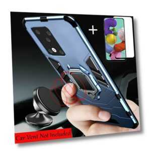 Für Samsung Galaxy A51 A71 Hülle Magnetring Case Handy Tasche Schutz Cover +Glas