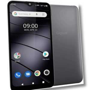 "Gigaset GS110 Smartphone 6,1 Zoll Dual-Sim 16GB Speicher titanium grey ""wie neu"""