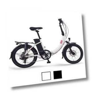 "FOO F1 20"" E-Faltrad E-Bike Klapprad 36V 13Ah 468Wh, weiß, schwarz"