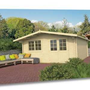 70mm Gartenhaus ISO 500x500 cm Gerätehaus Holzhütte Holz Haus Schuppen Blockhaus