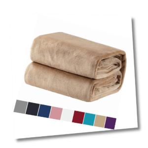 Bedsure Kuscheldecke Camel Flauschige kleine Decke, extra