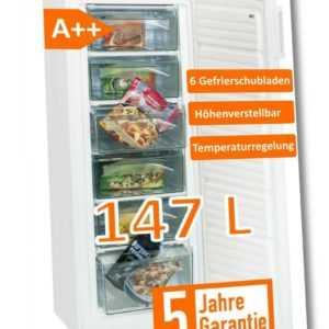 Exquisit Gefrierschrank weiß GS 235-4.2 A++ - *inkl. 5 Jahre...