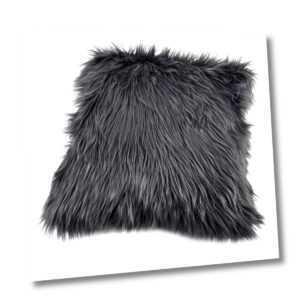 Kissen Premium Luxus Langfloor Kunstfell 45x45cm grau