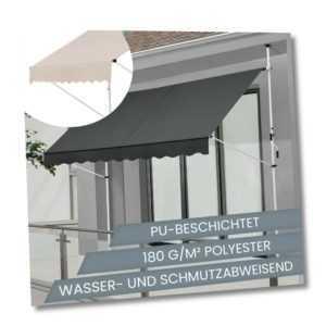 Klemmmarkise Balkonmarkise Markise Sonnenmarkise Terasse Balkon ArtLife®