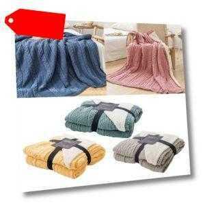Mit Fleece Gefütterte Wolldecke Aus Baumwolle. Hoteldecken Für