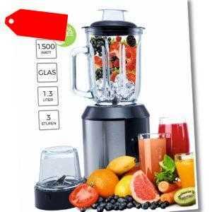 Standmixer Edelstahl Glaskrug BPA frei Smoothie Maker 1500 Watt
