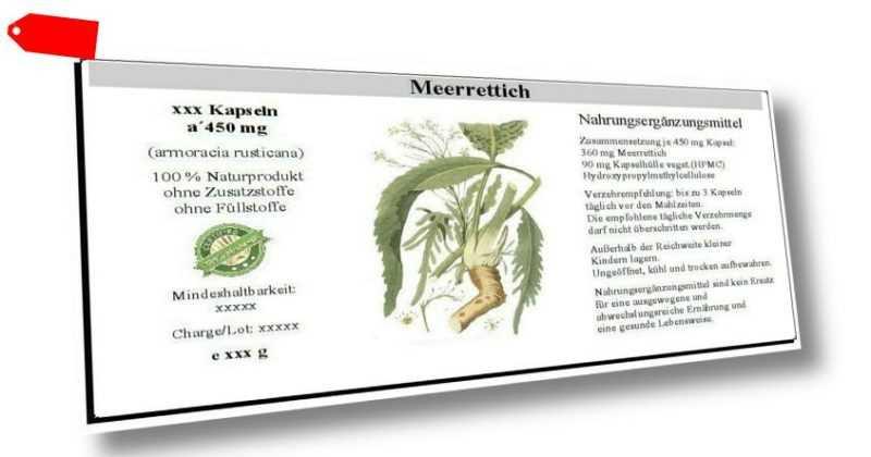 Meerrettich Kapseln (armoracia rusticana) - 100 % vegetarisch